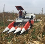 Interchangeable corn header for KUBOTA harvester,rubber track self-propelled  corn stalk platform system